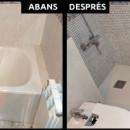 Una de les meves especialitats: reformes de banys amb canvis de banyera per plat de dutxa
