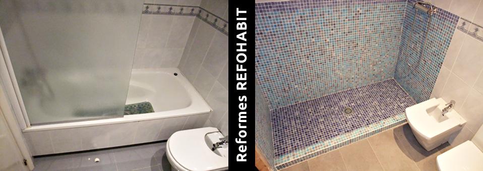 01 canvi de banyera per plat dutxa barcelona