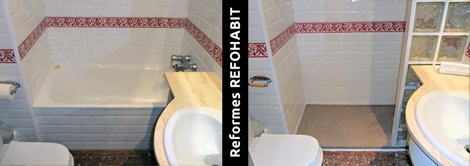02 canvi de banyera plat dutxa resina barcelona