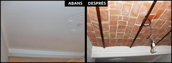 Especialista en restauració de sostres antics amb revoltó a pisos de Barcelona.