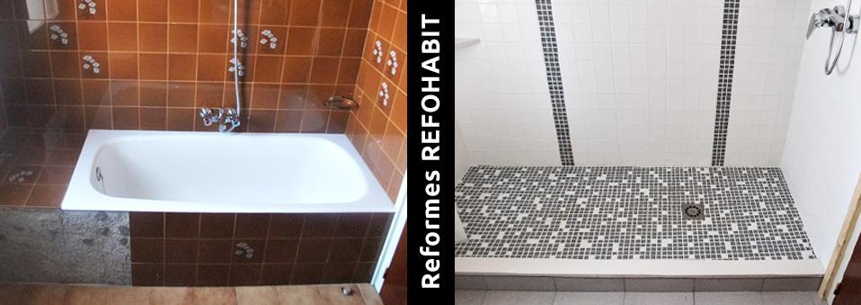 07 treure banyera per fer dutxa d'obra amb gresite mosaic de vidre