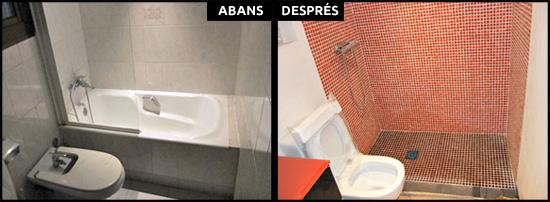 Reforma integral de bany a pis de l'Eixample de Barcelona