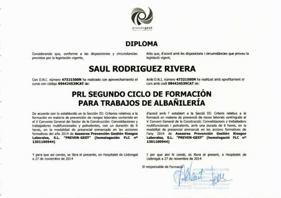 PRL de Reformes Refohabit de Barcelona